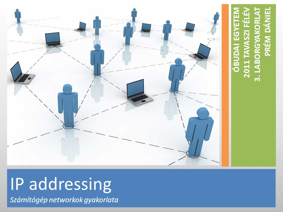 IP address • Logical addressing • 32 bit integer • IP address can be split into two parts: network and host ID 172.16.254.1 10101100.00010000.11111110.00000001