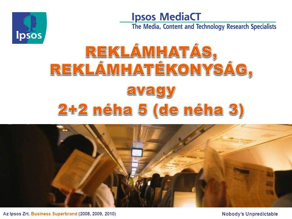 © 2008 Ipsos EGYENESEK MEREDEKSÉGE 22 Meredekség: Y =Ax+B A=1,6 A=0,3 A=2,8 A=2,2 A=1,9 • Legerősebben az újságolvasás gyakorisága függ össze az újsághirdetésekre való visszaemlékezéssel • A köztéren is jól fokozható a reklám-emlékezés a kitettség növelésével • Az internetes hirdetések esetében érhető el a legkisebb reklám-emlékezési növekmény az internetezéssel eltöltött idő növelésével