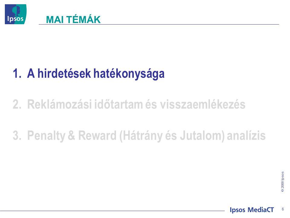 © 2008 Ipsos REKLÁMOKRA VALÓ VISSZAEMLÉKEZÉS – ÉLETKOR 17