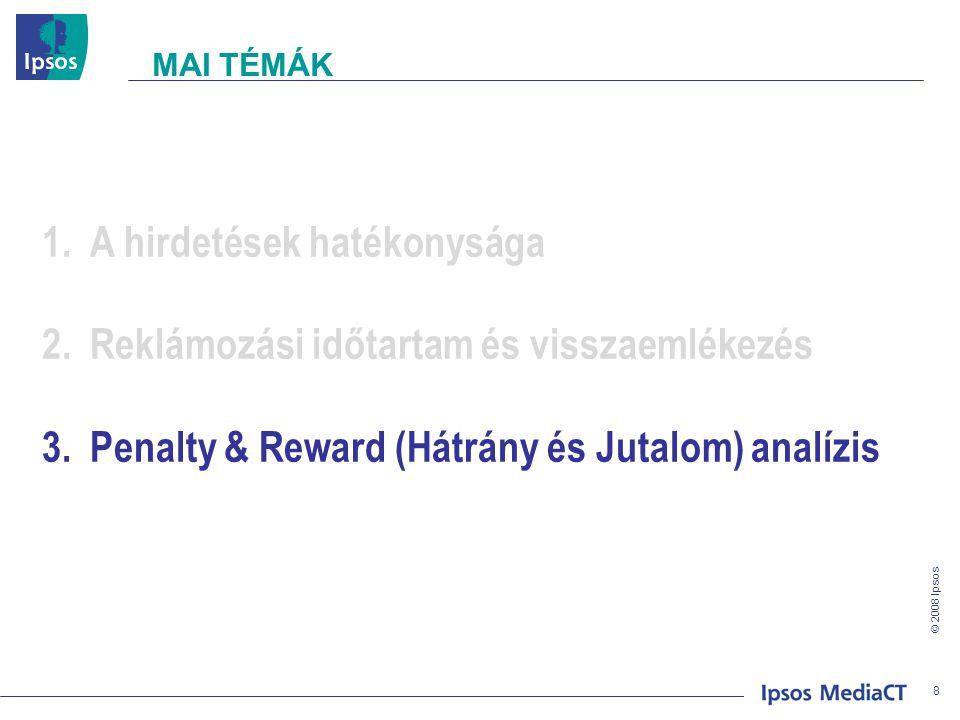 © 2008 Ipsos A HIRDETÉSEK HATÉKONYSÁGA 9