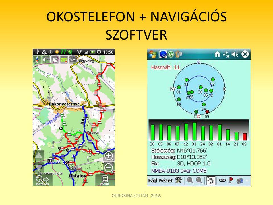 OKOSTELEFON + NAVIGÁCIÓS SZOFTVER ODROBINA ZOLTÁN - 2012.