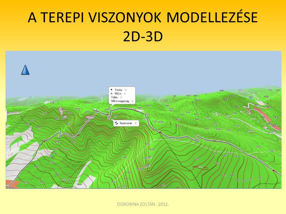 A TEREPI VISZONYOK MODELLEZÉSE 2D-3D ODROBINA ZOLTÁN - 2012.