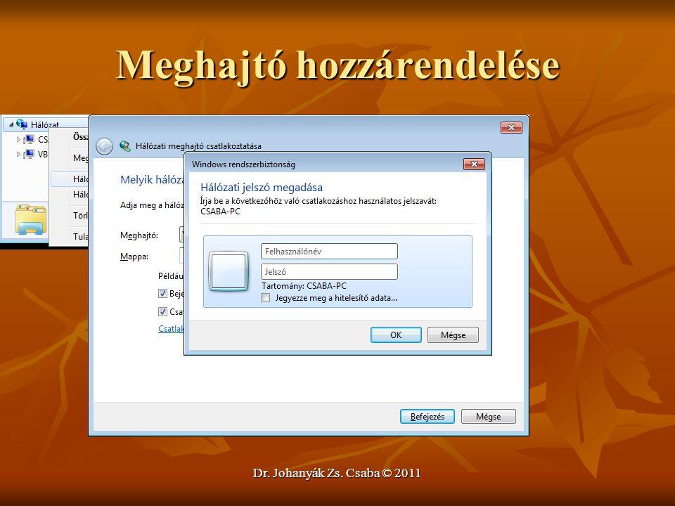 Meghajtó hozzárendelése Dr. Johanyák Zs. Csaba © 2011