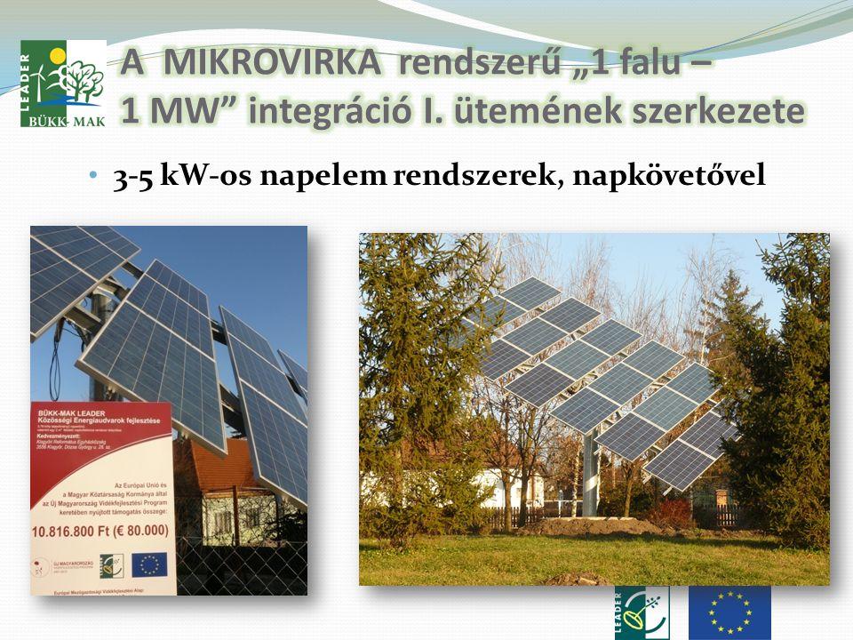 • 3-5 kW-os napelem rendszerek, napkövetővel