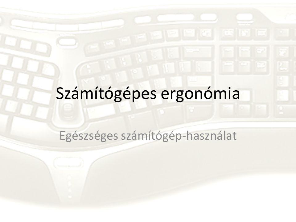 Számítógépes ergonómia Egészséges számítógép-használat