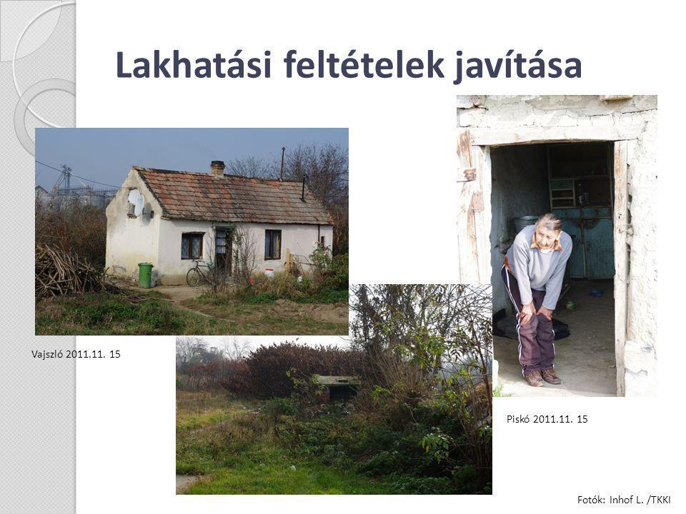 Lakhatási feltételek javítása Vajszló 2011.11. 15 Piskó 2011.11. 15 Fotók: Inhof L. /TKKI