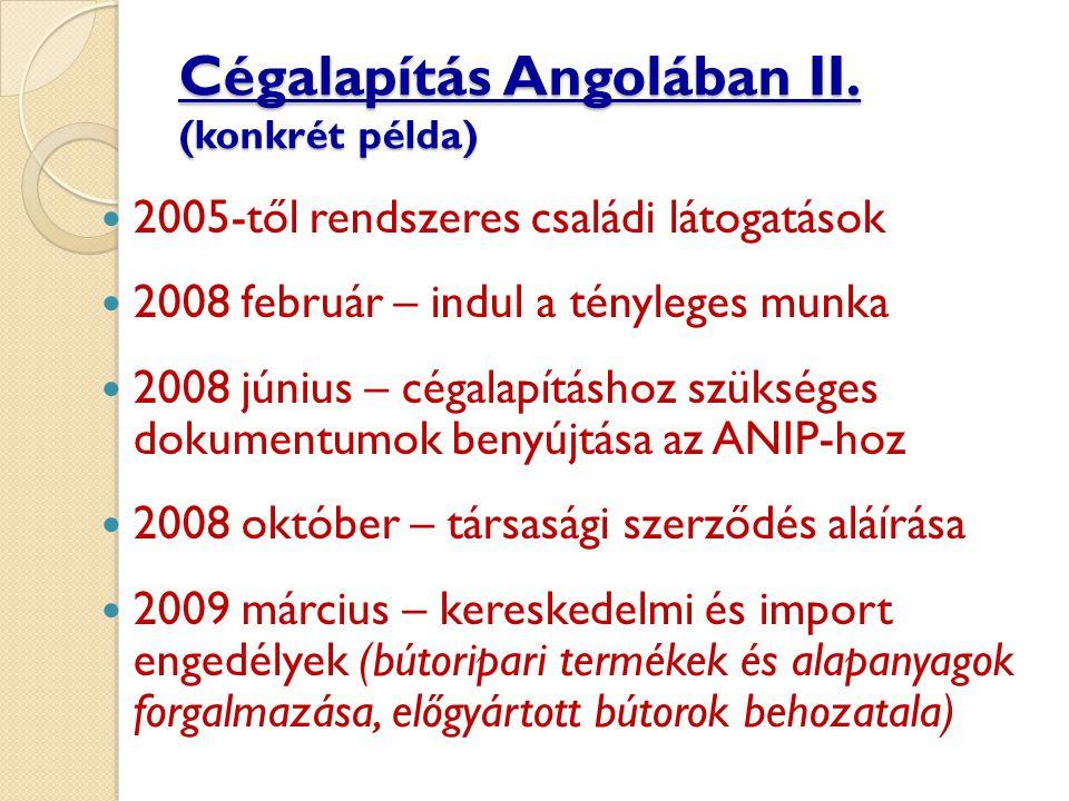 Cégalapítás Angolában II.