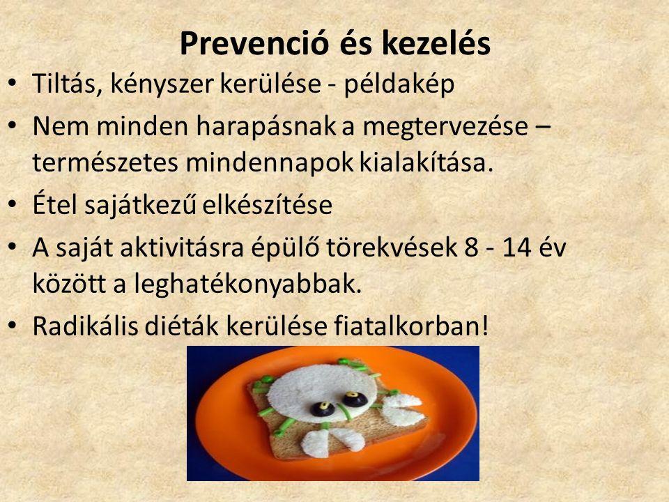 Prevenció és kezelés • Tiltás, kényszer kerülése - példakép • Nem minden harapásnak a megtervezése – természetes mindennapok kialakítása. • Étel saját