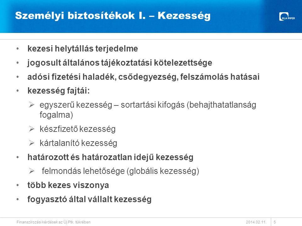Személyi biztosítékok II.