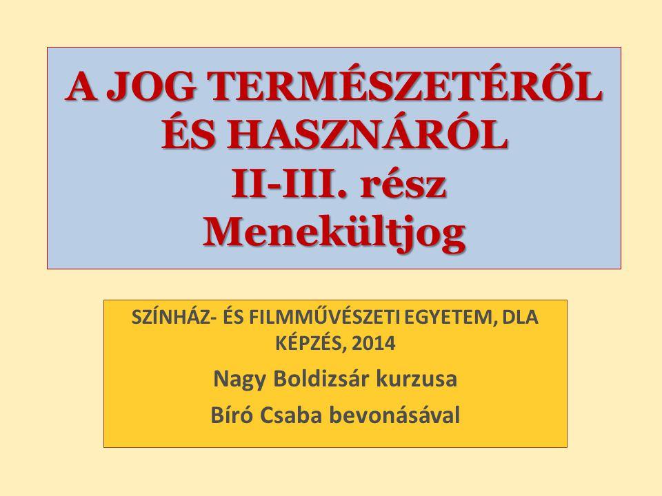 Nagy Boldizsár előadása F OGALMAK, MENEKÜLTDEFINÍCIÓK EU – K IEGÉSZÍTŐ VÉDELEM 2004/83/EK irányelv a menekült definíció értelmezéséről és a kiegészítő védelemről 2.