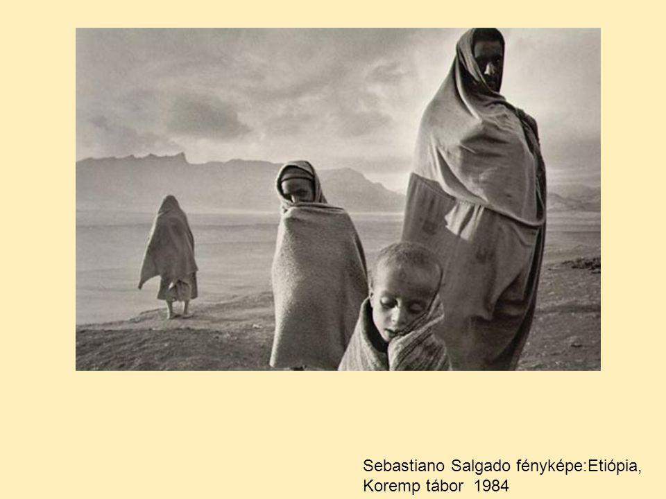 Sebastiano Salgado fényképe:Etiópia, Koremp tábor 1984