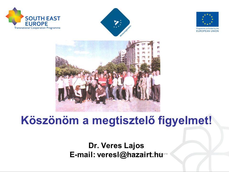 Köszönöm a megtisztelő figyelmet! Dr. Veres Lajos E-mail: veresl@hazairt.hu