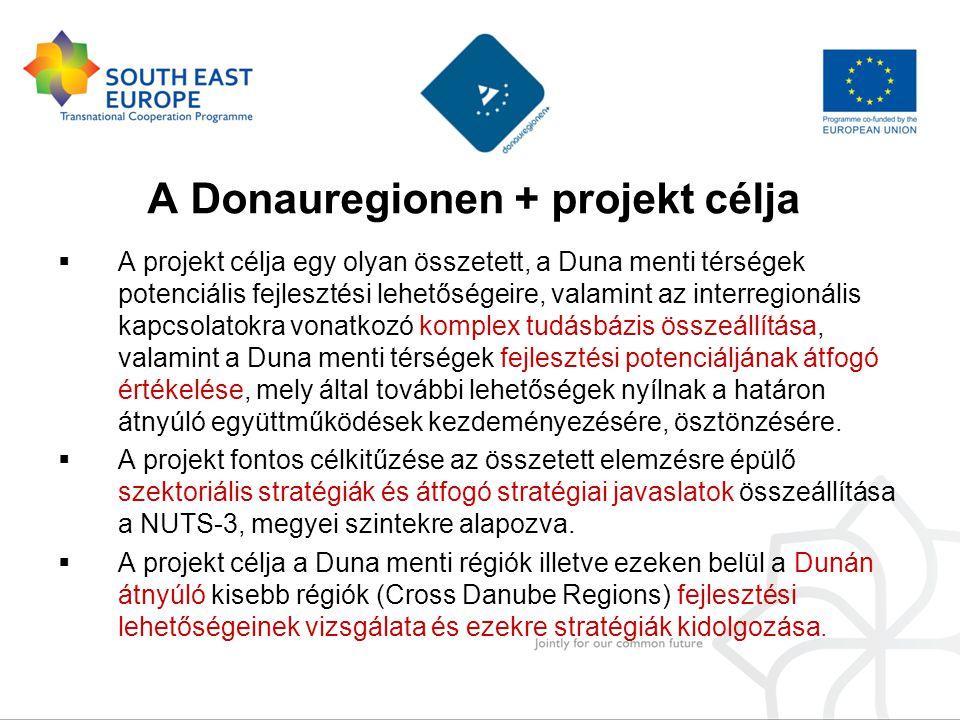  A projekt célja egy olyan összetett, a Duna menti térségek potenciális fejlesztési lehetőségeire, valamint az interregionális kapcsolatokra vonatkozó komplex tudásbázis összeállítása, valamint a Duna menti térségek fejlesztési potenciáljának átfogó értékelése, mely által további lehetőségek nyílnak a határon átnyúló együttműködések kezdeményezésére, ösztönzésére.