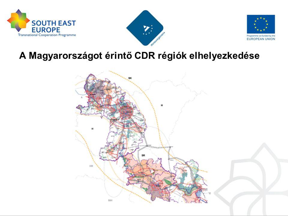 A Magyarországot érintő CDR régiók elhelyezkedése