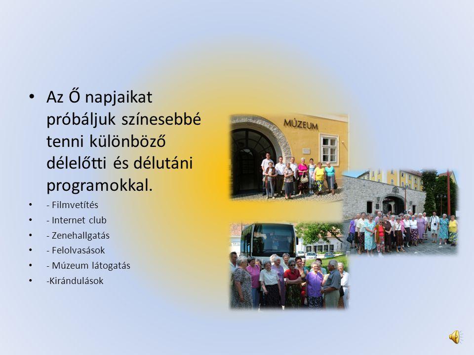 • 12 éve működő emeltszintű ellátást nyújtó idősotthon vagyunk.