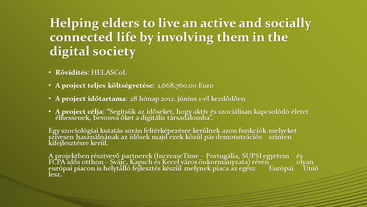• Hi-tech start-up 2011 áprilisban létrehozva • Egyetemi kutatásból született spin-off cég • Stratégia partnerség megmaradt a University of Porto-val • Tevékenység fókusza az aktív és egészséges idős kor • SaaS megoldások és mobil alkalmazás fejlesztés