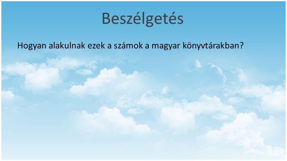 Beszélgetés Hogyan alakulnak ezek a számok a magyar könyvtárakban?