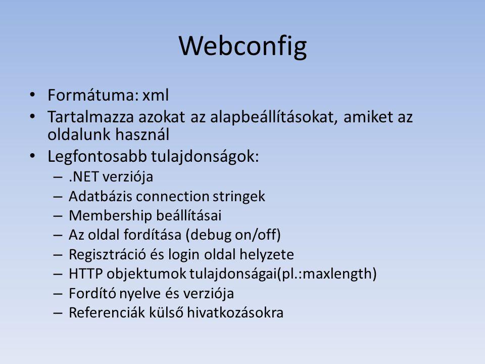 Miért jó a webconfig.