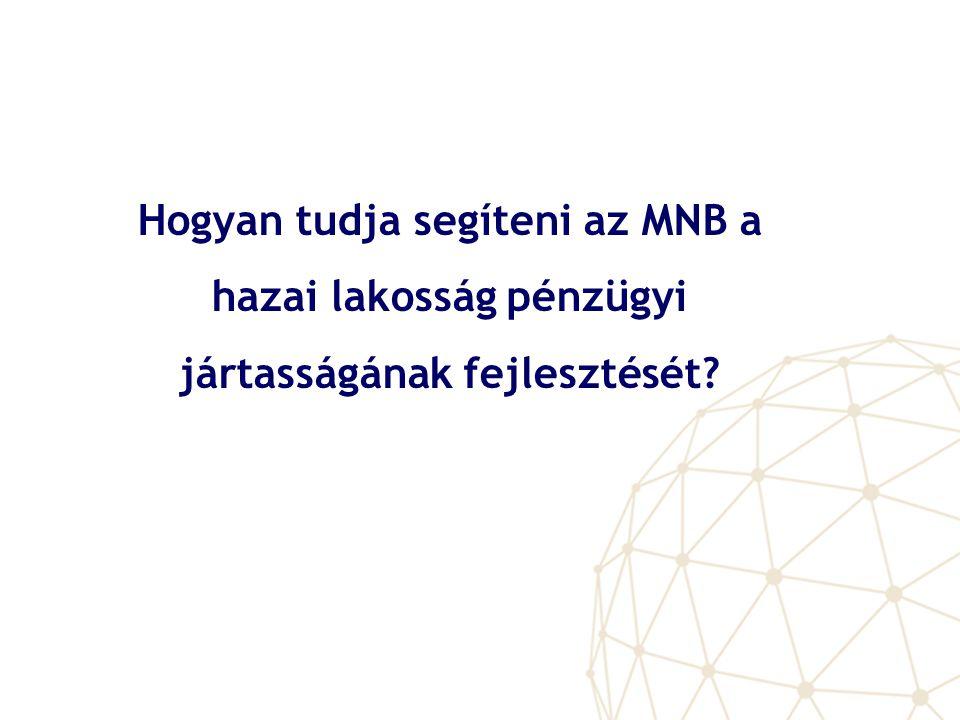 Hogyan tudja segíteni az MNB a hazai lakosság pénzügyi jártasságának fejlesztését?