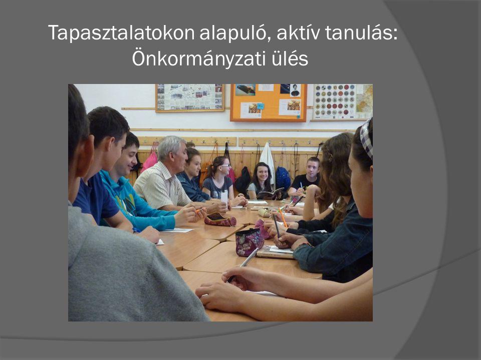 Tapasztalatokon alapuló, aktív tanulás: Önkormányzati ülés
