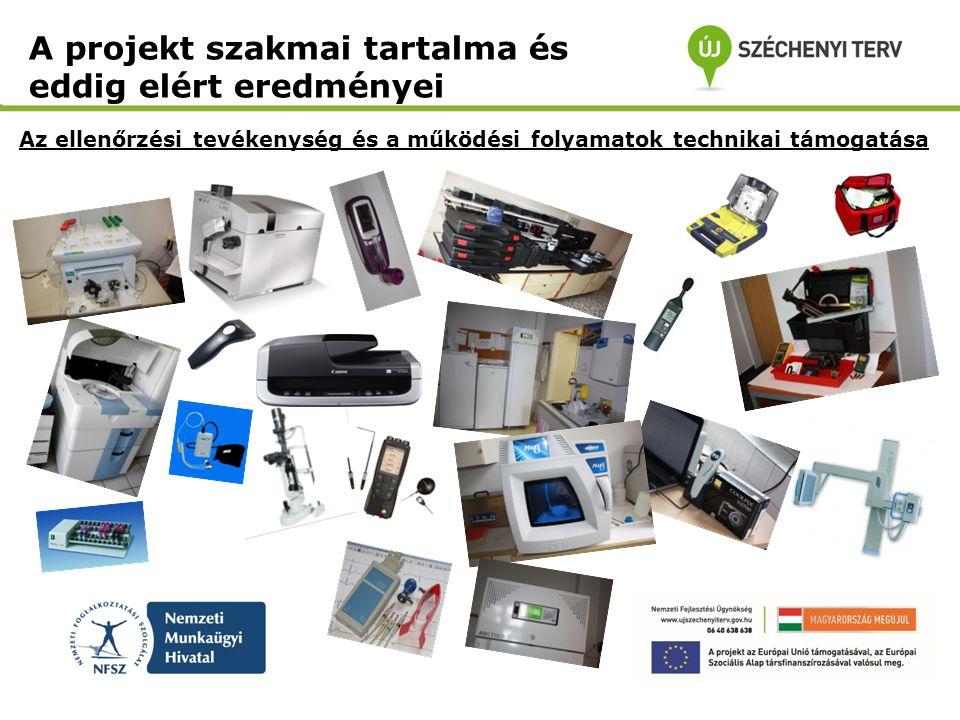 Az ellenőrzési tevékenység és a működési folyamatok technikai támogatása A projekt szakmai tartalma és eddig elért eredményei