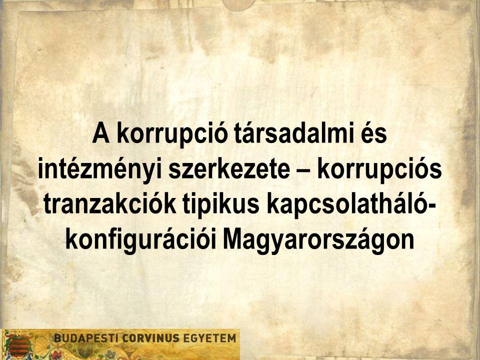 A korrupció társadalmi és intézményi szerkezete – korrupciós tranzakciók tipikus kapcsolatháló- konfigurációi Magyarországon