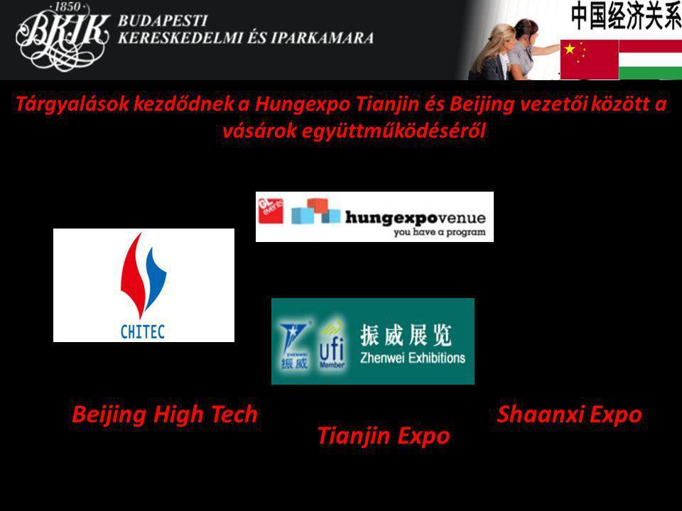 Beijing High Tech Tárgyalások kezdődnek a Hungexpo Tianjin és Beijing vezetői között a vásárok együttműködéséről Tianjin Expo Shaanxi Expo