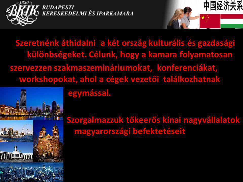 Szeretnénk áthidalni a két ország kulturális és gazdasági különbségeket. Célunk, hogy a kamara folyamatosan szervezzen szakmaszemináriumokat, konferen