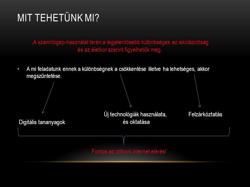 MELY TÁRSADALMI CSOPORTOK HASZNÁLJÁK AZ INTERNETET.