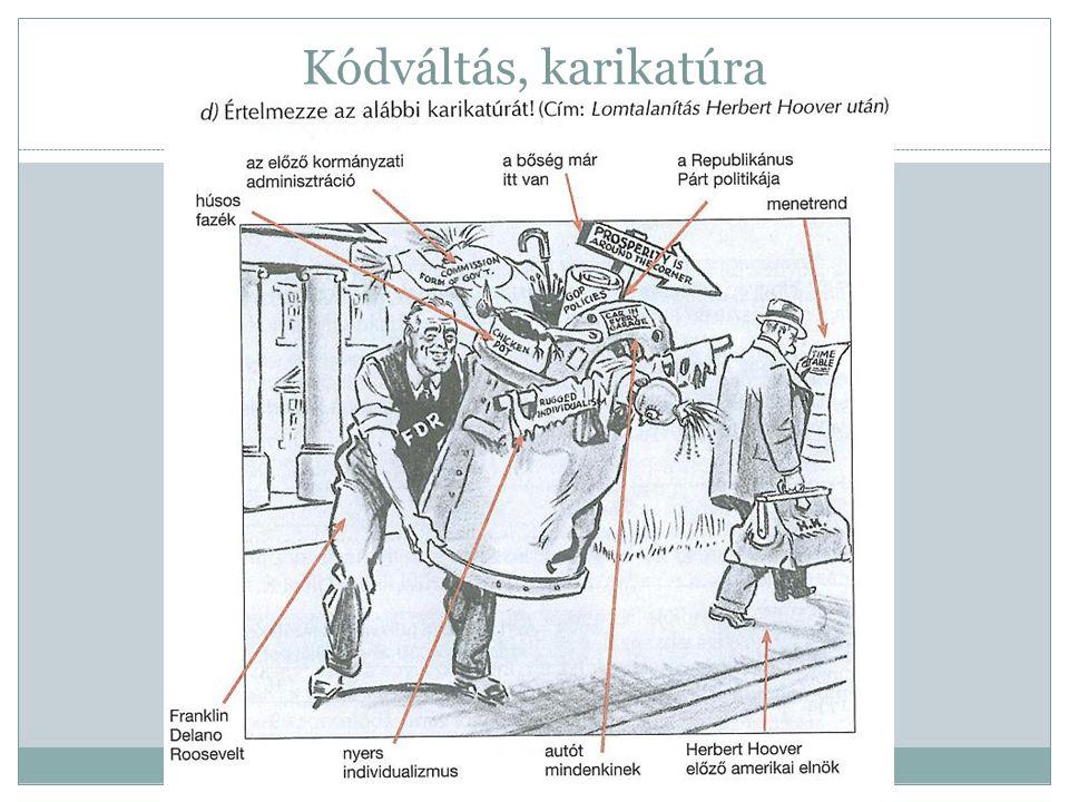 Kódváltás, karikatúra