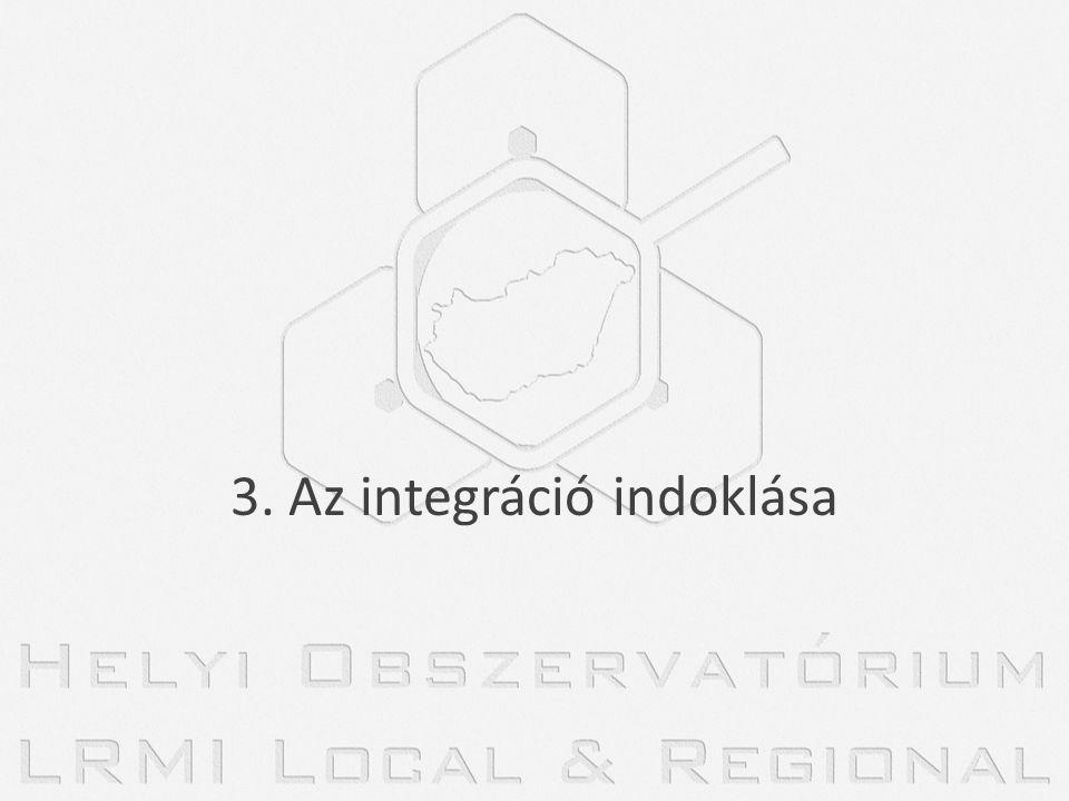 3. Az integráció indoklása