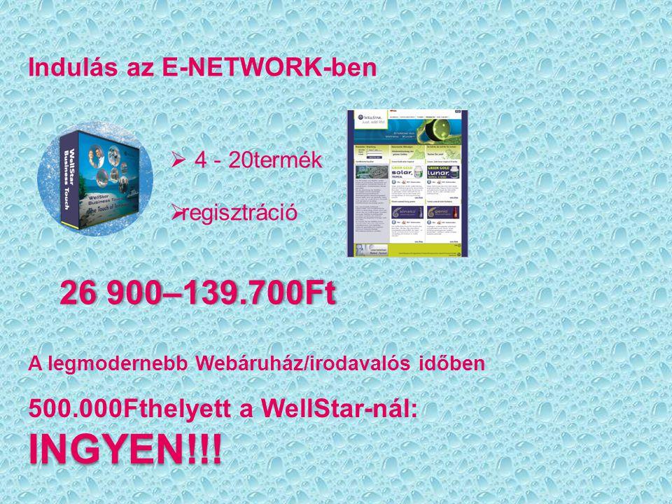 Indulás az E-NETWORK-ben  4 - 20termék  regisztráció 26 900–139.700Ft26 900–139.700Ft A legmodernebb Webáruház/irodavalós időben 500.000Fthelyett a