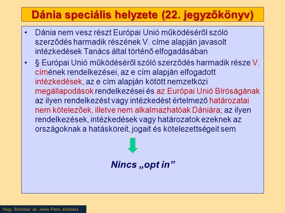 Nagy Boldizsár és Jeney Petra előadása Dánia speciális helyzete (22.