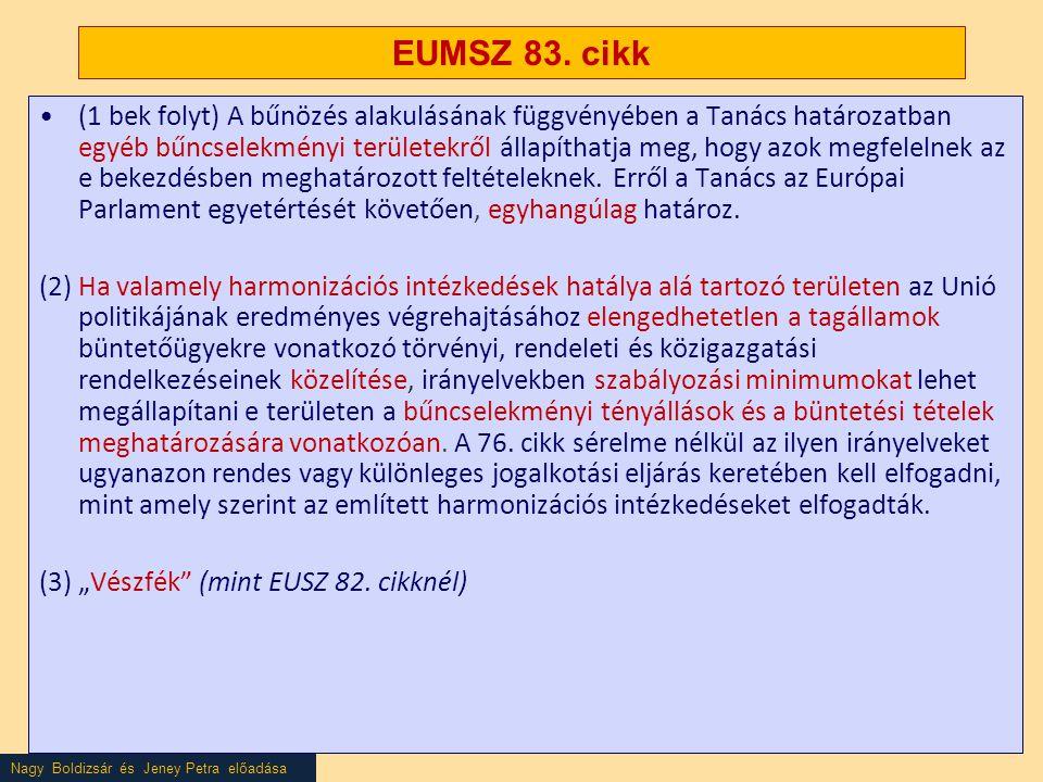 Nagy Boldizsár és Jeney Petra előadása EUMSZ 83.