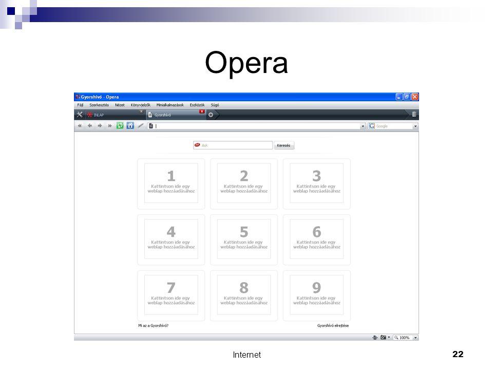 Internet22 Opera