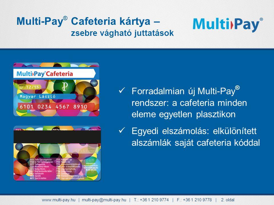 A kártyabirtokos a fizetés során úgynevezett cafeteria kód megadásával dönti el, hogy melyik egyenlegéről kíván költeni. Ezek a kódok a következők: 11