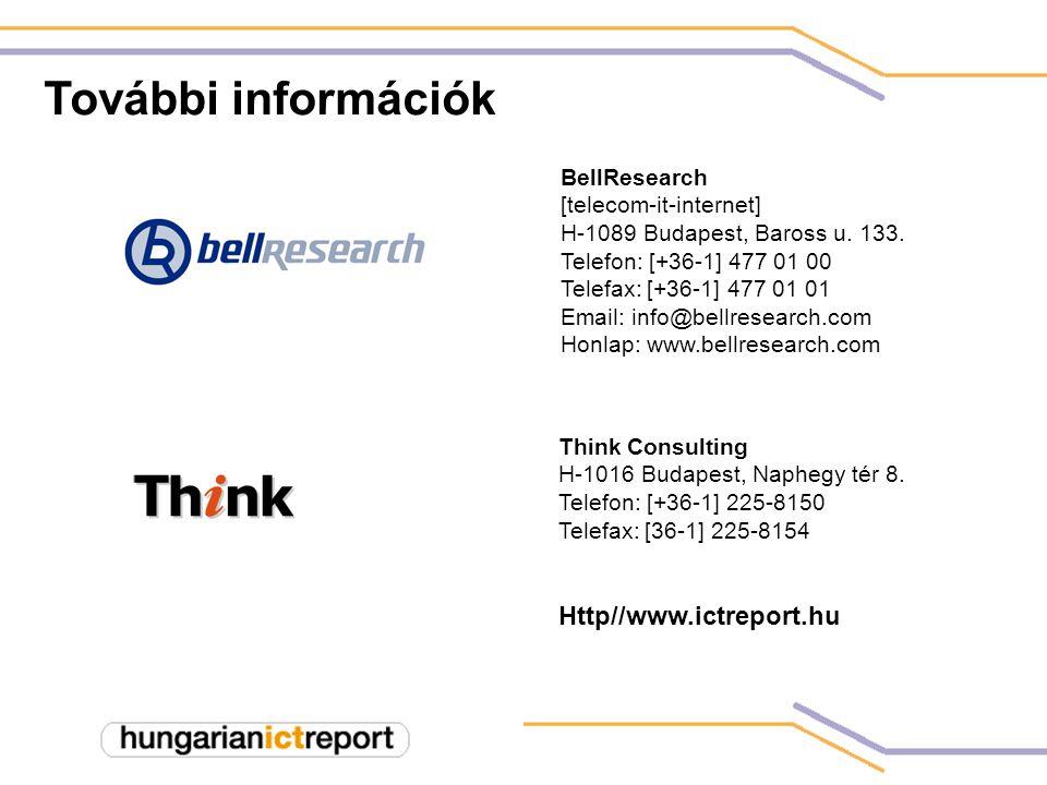 További információk BellResearch [telecom-it-internet] H-1089 Budapest, Baross u.
