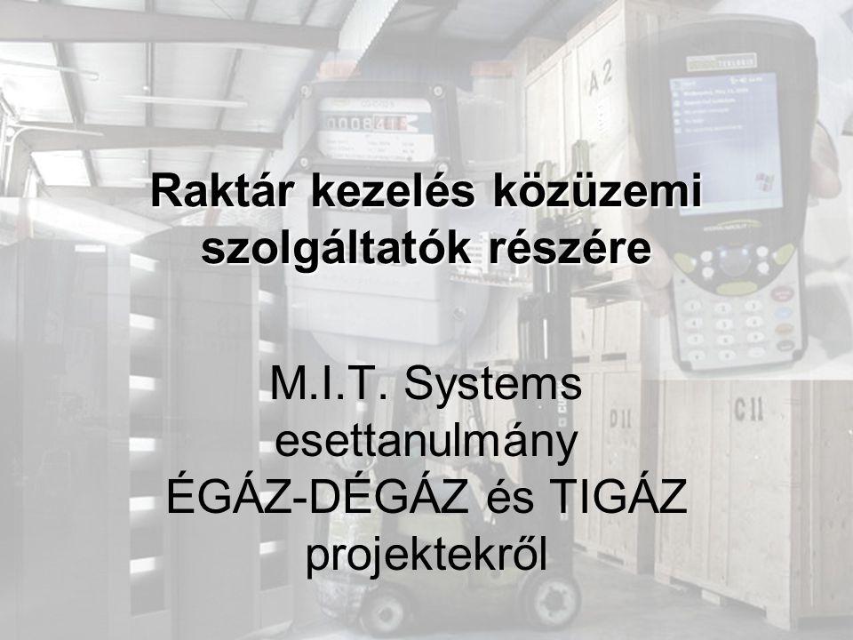 Raktár kezelés közüzemi szolgáltatók részére M.I.T.