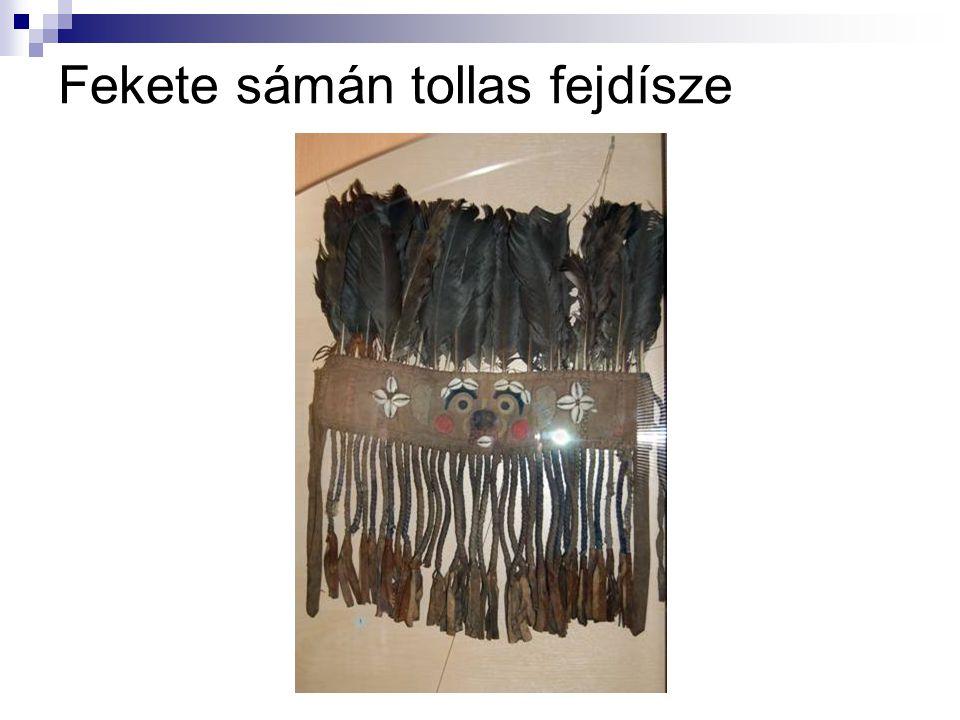 Fekete sámán tollas fejdísze