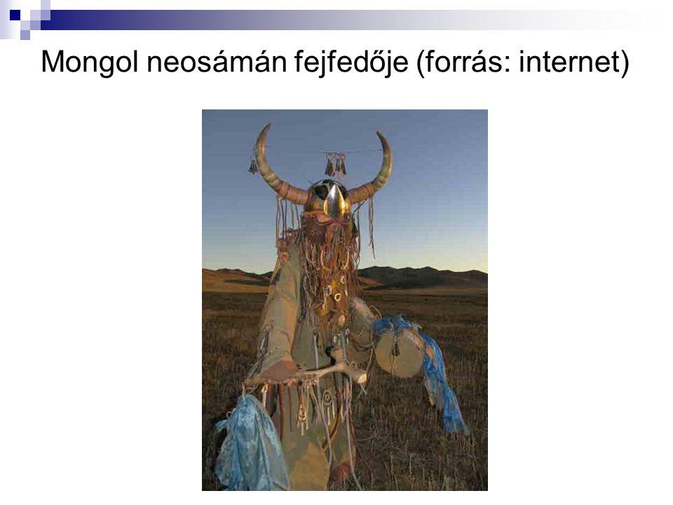 Mongol neosámán fejfedője (forrás: internet)
