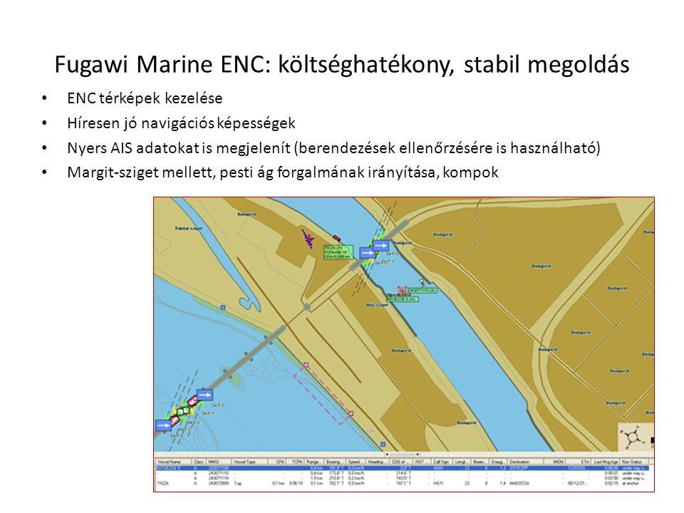 Fugawi Marine ENC: költséghatékony, stabil megoldás • ENC térképek kezelése • Híresen jó navigációs képességek • Nyers AIS adatokat is megjelenít (ber