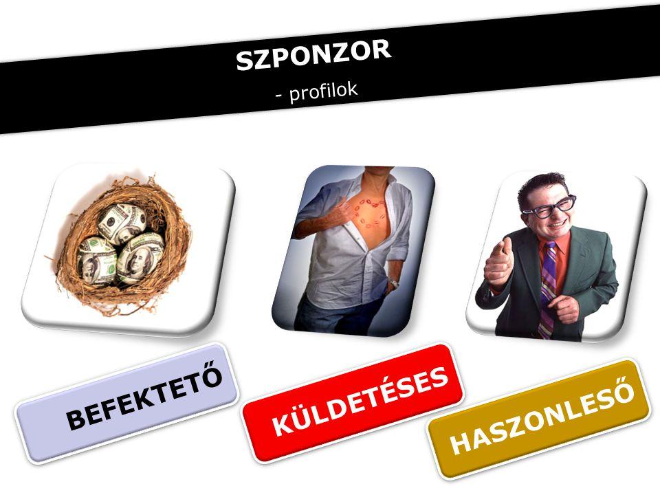 BEFEKTETŐ KÜLDETÉSES HASZONLESŐ SZPONZOR - profilok