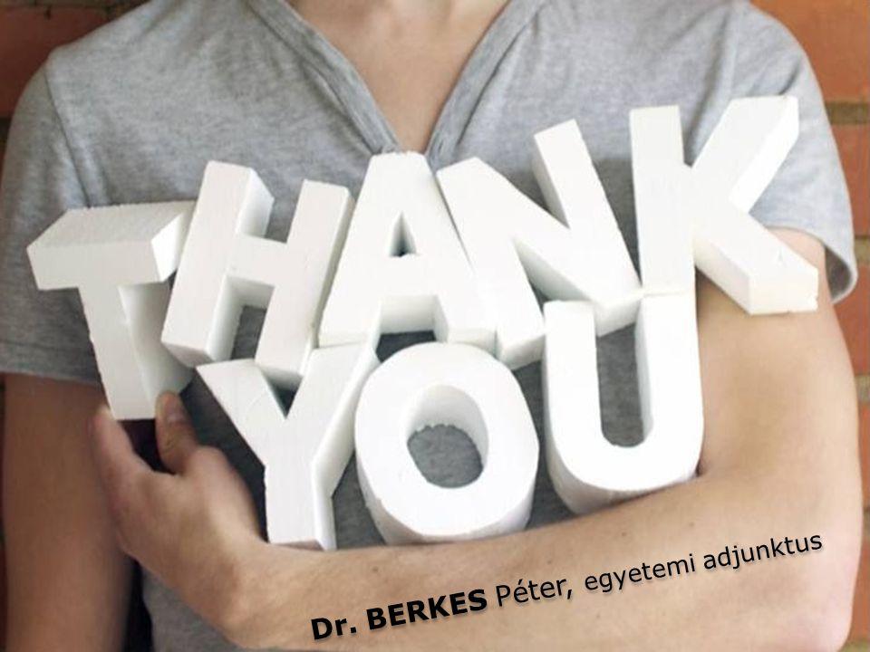 Dr. BERKES Péter, egyetemi adjunktus