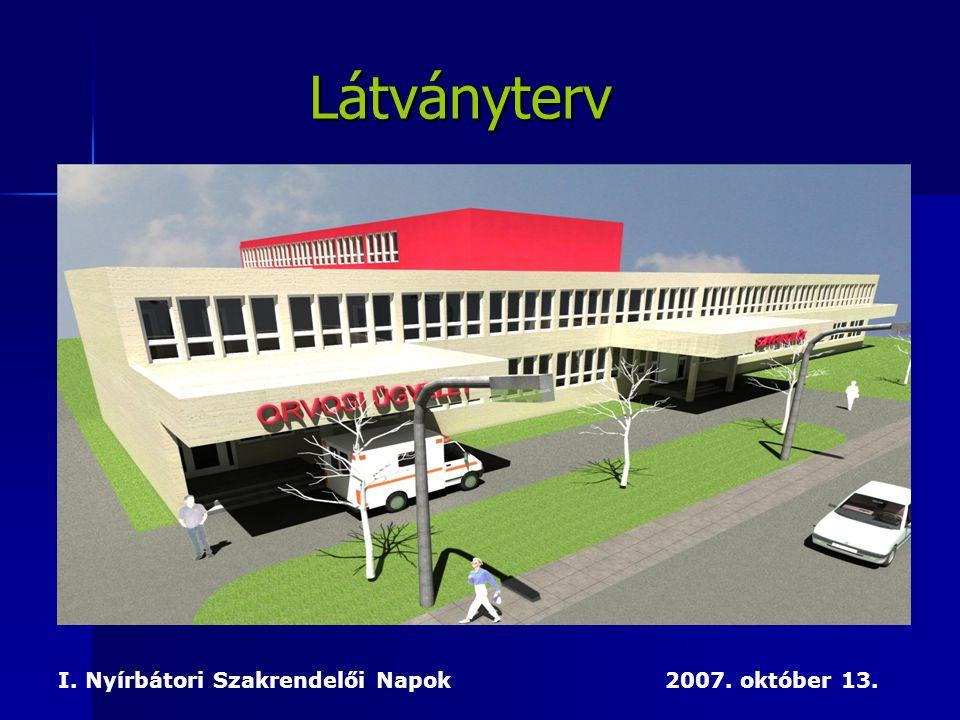 I. Nyírbátori Szakrendelői Napok 2007. október 13. Látványterv