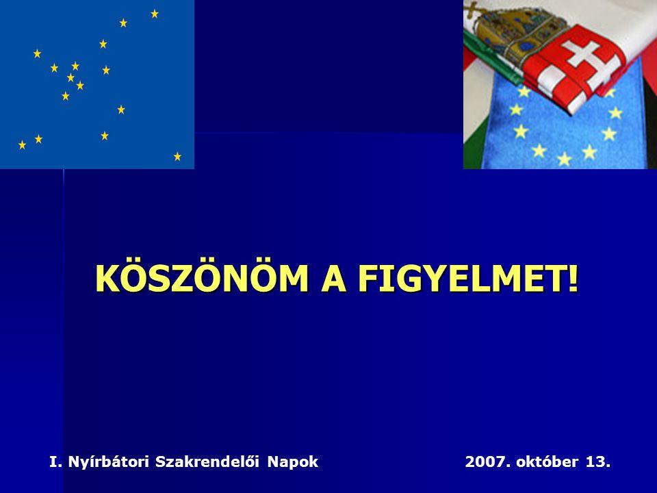 KÖSZÖNÖM A FIGYELMET! I. Nyírbátori Szakrendelői Napok 2007. október 13.
