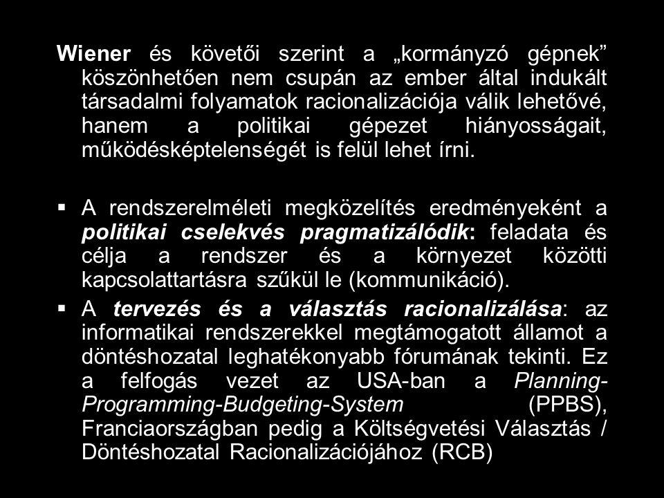 A helyi demokrácia intézményi modellje az európai gyakorlatban A rendszer intézményesítését az alapelvekkel együtt több város chartában rögzítette Önkormányzat döntéshozó testületei, végrehajtásért felelős intézmények Állampolgári közösségek (lakókörzet, delegált polgári testületek, tanulmányi közösségek, tematikus fórumok ) Állampolgár Civil szervezetek, szakmai egyesületek