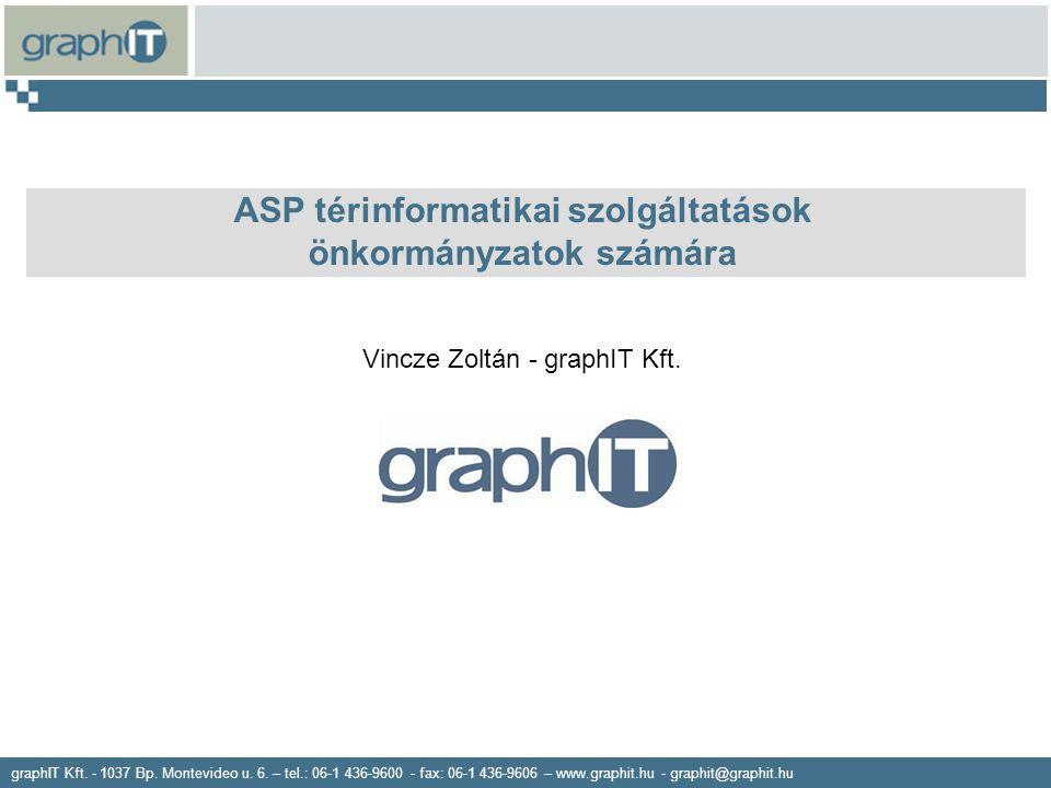 graphIT Kft. - 1037 Bp. Montevideo u. 6. – tel.: 06-1 436-9600 - fax: 06-1 436-9606 – www.graphit.hu - graphit@graphit.hu ASP térinformatikai szolgált