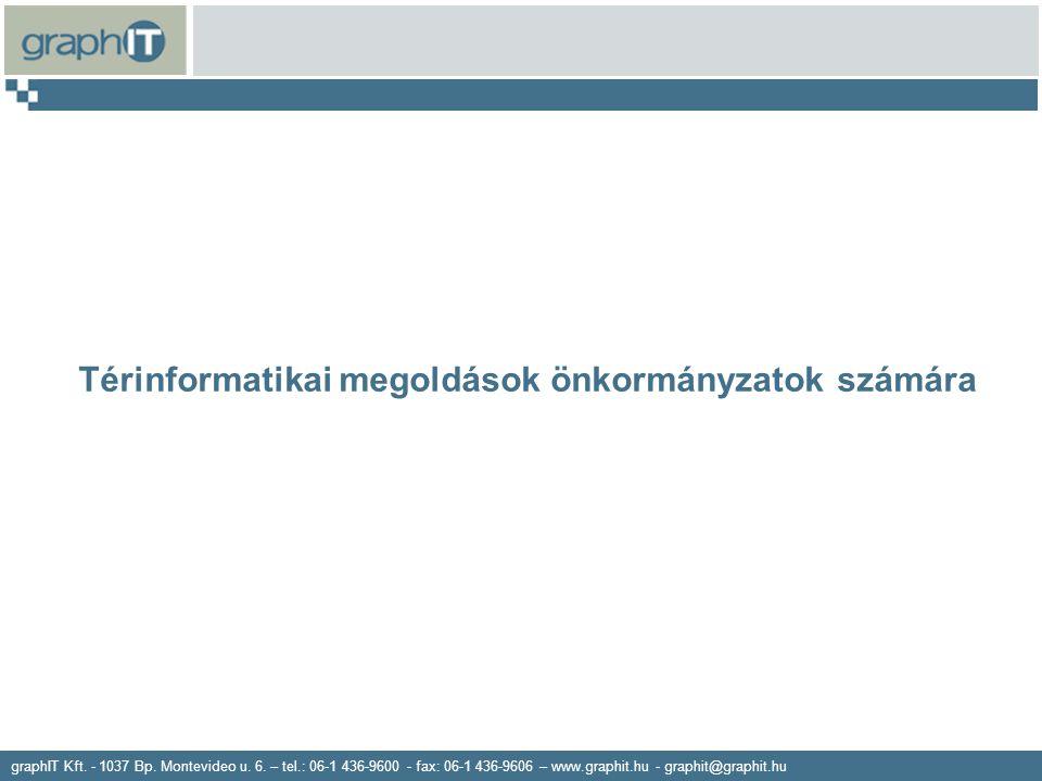 graphIT Kft. - 1037 Bp. Montevideo u. 6. – tel.: 06-1 436-9600 - fax: 06-1 436-9606 – www.graphit.hu - graphit@graphit.hu Térinformatikai megoldások ö