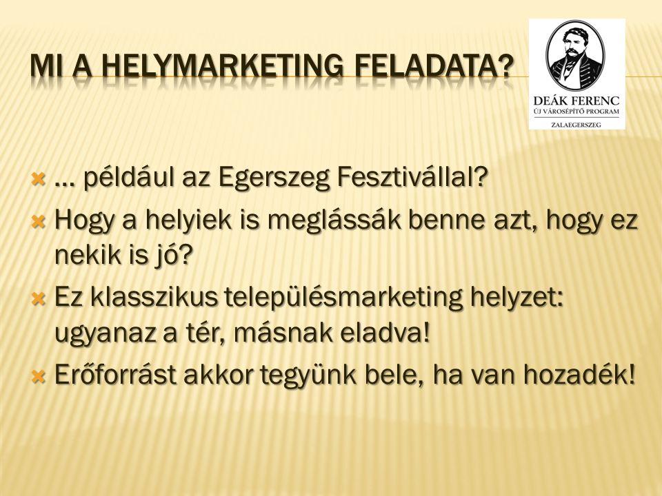  … például az Egerszeg Fesztivállal. Hogy a helyiek is meglássák benne azt, hogy ez nekik is jó.