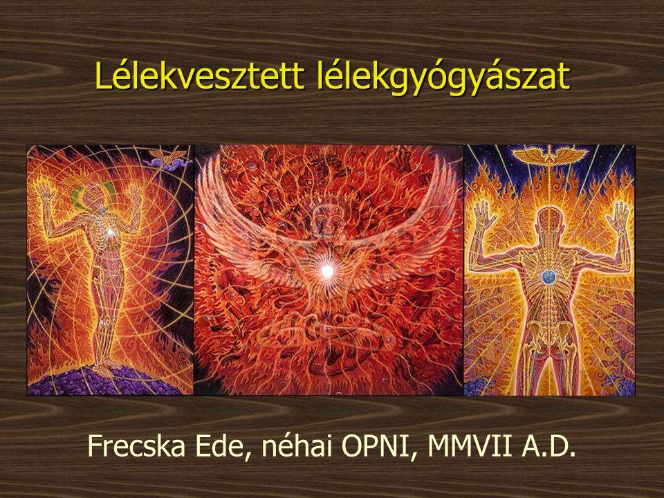Lélekvesztett lélekgyógyászat Frecska Ede, néhai OPNI, MMVII A.D.